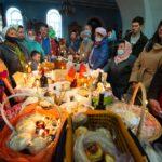 Освящение пасок и куличей к празднику